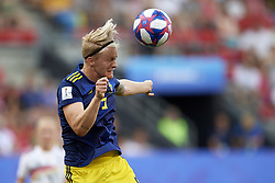 June 29, 2019 - Rennes, France - Nilla Fischer (Vfl Wolfsburg) of Sweden does passed during the 2019 FIFA Women's World Cup France Quarter Final match between Germany and Sweden at Roazhon Park on June 29, 2019 in Rennes, France. (Credit Image: © Jose Breton/NurPhoto via ZUMA Press)