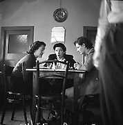 Castlebar Feature - Special for Liam Robinson. Co. Mayo 06/01/1952<br /> <br /> This image shows Rita Quinn neé Hughes (centre) and Francis Hughes (right) having tea in the Green Bay Cafe (which is now a B&B on the mall in Castlebar, Co. Mayo) with a friend of theirs after a journey to Dublin where both sisters were working as chemists.<br /> They didn't realise the photo was being taken at the time! Both ladies are still alive. Rita still has her shop on Main Street Castlebar and Francis retired from being a locum pharmacist at Mayo General hospital three years ago.<br /> <br /> Thanks so much to Aoibhinn Ní Shúilleabháin for the information!!