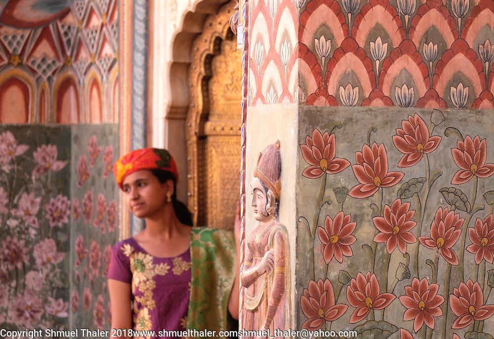 Lotus carvings on an entrance to Jaipur City Palace.<br /> Photo by Shmuel Thaler <br /> shmuel_thaler@yahoo.com www.shmuelthaler.com