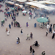 Aerial view of Marrakesh central square