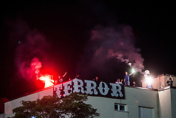 Terror Boys, supporters of Gorica during 2nd Leg football match between ND Gorica and FC Shirak in 1st Qualifying Round of UEFA Europa League 2017/18, on July 6, 2017 in Nova Gorica, Slovenia. Photo by Vid Ponikvar / Sportida