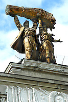 Soviet Workers Monument at the All Russia Exhibition Center, Moscow.