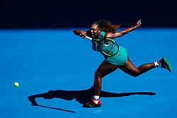 January 20, 2019 - Melbourne, VIC, U.S. - MELBOURNE, VIC - JANUARY 19: SERENA WILLIAMS (USA) during day six match of the 2019 Australian Open on January 19, 2019 at Melbourne Park Tennis Centre Melbourne, Australia (Photo by Chaz Niell/Icon Sportswire) (Credit Image: © Chaz Niell/Icon SMI via ZUMA Press)