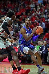 NORMAL, IL - November 06:  Decardo Day takes to baseline blocked by Malik Yarbrough during a college basketball game between the ISU Redbirds  and the Florida Gulf Coast Eagles on November 06 2018 at Redbird Arena in Normal, IL. (Photo by Alan Look)