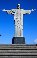 corcovado christ redeemer in rio de janeiro brazil