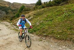 13-09-2017 FRA: BvdGF Tour du Mont Blanc day 4, Trient<br /> Van Chamonix naar Trient. <br /> Javi