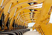 Caterpillar 330C excavators produced at the Caterpillar plant in Aurora, Illinois.