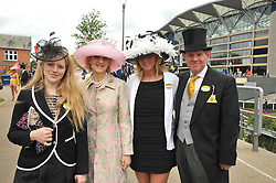 IAN & FIONA SHACKLETON and their daughters Left, CORDELIA and right LYDIA at the Royal Ascot racing festival 2009 held on 17th June 2009.