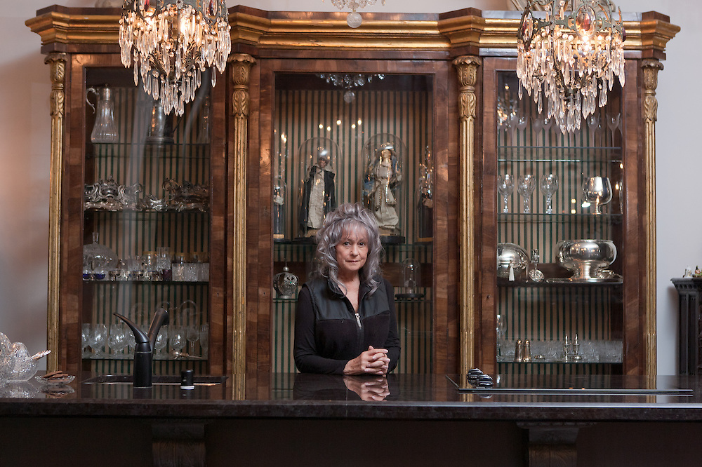 Gertrude Zachary, photographed in her kitchen, spent her life collecting antiques and designing jewelry. Now she's living in her dream home in downtown Albuquerque...CREDIT: Steven St. John for The Wall Street Journal