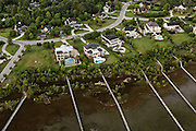 Marsh front homes in Mount Pleasant, SC.