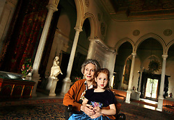 Yvonne, Lady Cochrane Sursock, 83, and her granddaughter Ariana Cochrane, 3, are seen inside of the Sursock Mansion in Beirut, Lebanon, April 12, 2006. The family, part of the aristocracy, has seen the country through peace, war and reconstruction.