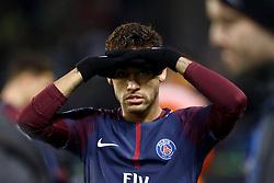 November 22, 2017 - Paris, France - Neymar of PSG reacts during the UEFA Champions League Group B football match between Paris Saint-Germain (PSG) and Glasgow Celtic at Parc des Princes Stadium in Paris on November 22, 2017. (Credit Image: © Mehdi Taamallah/NurPhoto via ZUMA Press)