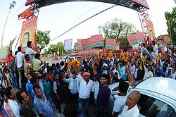 June 3, 2017 - Allahabad, Uttar Pradesh, India - During Chief Minister Aditya Nath Yogi arrived to uncover Shahid Chandra Shekhar Azad statue at Circuit House. (Credit Image: © Prabhat Kumar Verma/Pacific Press via ZUMA Wire)