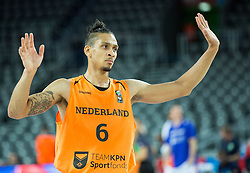 Worthy de Jong of Netherlands during basketball match between Slovenia vs Netherlands at Day 4 in Group C of FIBA Europe Eurobasket 2015, on September 8, 2015, in Arena Zagreb, Croatia. Photo by Vid Ponikvar / Sportida