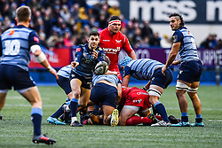Cardiff Blues' Tomos Williams in action - Mandatory by-line: Craig Thomas/Replay images - 31/12/2017 - RUGBY - Cardiff Arms Park - Cardiff , Wales - Blues v Scarlets - Guinness Pro 14