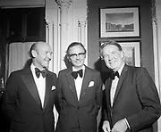17th October 1973<br /> <br /> Richie Ryan, Minister for Finance, pictured at an I.M.I. Council Dinner at the Shelbourne Hotel.
