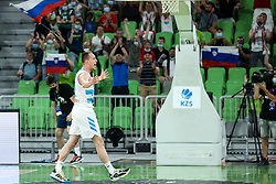 Klemen Prepelic of Slovenia reacts during friendly basketball match between National teams of Slovenia and Croatia, on June 18, 2021 in Arena Stozice, Ljubljana, Slovenia. Photo by Vid Ponikvar / Sportida