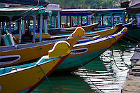 Colourful boats on Hoi An's Thu Bon river.