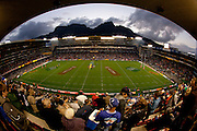 Image of Newlands rugby stadium with Table mountain in background. Semi-final clash between the Stormers and the Crusaders at Newlands during the Super 15 rugby series at Newlands. The Crusaders beat the Stormers in the semi-finals at Newlands, Cape Town, during Super 15 rugby series. Image by Greg Beadle Architecture photography by Greg Beadle. Commercial, industrial, aerial and residential property images commissioned by and captured for Beadle Photo corporate clients Global sport and corporate event photography by Greg Beadle. Greg captures the energy and emotion of international events including the World Economic Forum, Tour de France, Cape Epic MTB and the Cape Town Cycle Tour