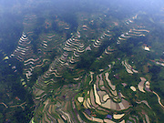 SANJIANG, May 5, 2016 <br /> <br /> Photo taken on May 5, 2016 shows terrace fields in Sanjiang Dong Autonomous County, south China's Guangxi Zhuang Autonomous Region.<br /> ©Exclusivepix Media