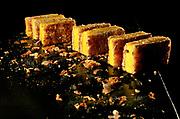 Plato especial por Sant Jordi del Restaurante Les Cols de Olot regentado por Fina Casadevall. El establecimiento sostiene 2 estrellas Michelin en 2020.