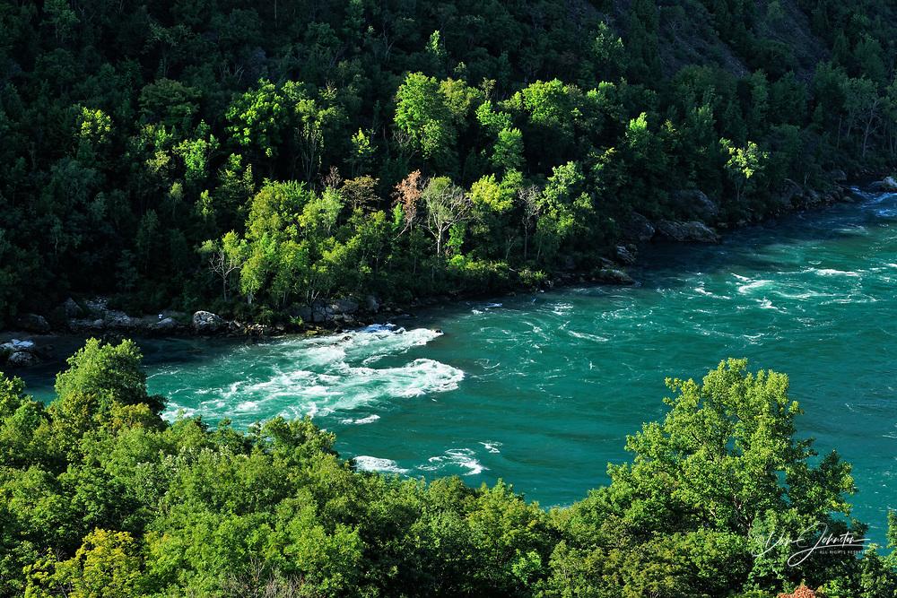 Niagara River gorge and rapids from Niagara Glen, Niagara Falls, Ontario, Canada