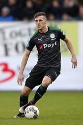 Yoell van Nieff of FC Groningen during the Dutch Eredivisie match between Willem II Tilburg and FC Groningen at Koning Willem II stadium on January 21, 2018 in Tilburg, The Netherlands