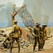 Dioramas depicting famous battles involving Australian military forces. Australian War Memorial in Canberra, ACT, Australia