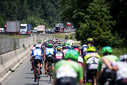 Peloton during Stage 1 of 24th Tour of Slovenia 2017 / Tour de Slovenie from Koper to Kocevje (159,4 km) cycling race on June 15, 2017 in Slovenia. Photo by Vid Ponikvar / Sportida