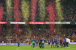 May 6, 2018 - Barcelona, Spain - FC Barcelona players celebration at the end of the match between FC Barcelona and Real Madrid CF, played at the Camp Nou Stadium on 06th May 2018 in Barcelona, Spain.  Photo: Joan Valls/Urbanandsport /NurPhoto. (Credit Image: © Joan Valls/NurPhoto via ZUMA Press)
