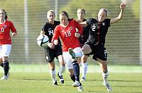 Fotball<br /> La Manga 2012<br /> 01.03.2012<br /> Landskamp U23<br /> Norge v USA / Norway v USA<br /> Foto: Morten Olsen, Digitalsport<br /> <br /> Andrea Haugstøyl - Norge<br /> Elli Reed - USA