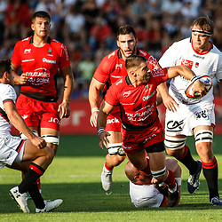 Sebastien Tillous Borde of Toulon  during the pre-season match between Rc Toulon and Lyon OU at Felix Mayol Stadium on August 17, 2017 in Toulon, France. (Photo by Guillaume Ruoppolo/Icon Sport)
