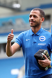 Brighton and Hove Albion's Liam Rosenior arrives for the Sky Bet Championship match at the AMEX Stadium, Brighton.