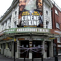 Missing Live Theatre;<br />Kunene and the King at Ambassadors Theatre;<br />Theatres in lockdown;<br />West End Theatreland, London, UK;<br />7th July 2020.<br /><br />© Pete Jones<br />pete@pjproductions.co.uk