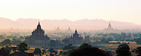 """BURMA (MYANMAR), Mandalay Division, Bagan, 2006.  Bagan?s rich spiritual history is marked by hundreds of shrines and temples. In an effort to attract tourists, the government relocated residents to """"New Bagan,"""" an uninspiring concrete town nearby."""