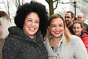 Koningin Maxima is aanwezig bij de BZT Kerstshow in Carre Amsterdam. De BZT Band XXL is compleet! Tien muzikale groepen, met elk een eigen 'sound', treden aanstaande op in een vol Carré op het Kerst Muziekgala 2016 als onderdeel van Meer muziek in de klas.<br /> <br /> Queen Maxima attends the BZT Christmas Show in Amsterdam Carre. The BZT Band XXL is complete! Ten musical groups, each with its own 'sound', stairs leading into a full Carré in Christmas music gala 2016 as part of more music in class.<br /> <br /> Op de foto / On the photo: <br /> <br />  Tania Kross (L)