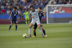 Florencia BONSEGUNDO (ARG), Aya SAMESHIMA (JPN) in action during the match of 2019 FIFA Women's World Cup France group D match between Argentina andJapan, at Parc des Princes on June 10, 2019 in Paris, France. Photo by Loic BARATOUX/ABACAPRESS.COM