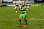 Forest Green Rovers Liam Noble(15) at the end of the game during the Vanarama National League match between Forest Green Rovers and Chester FC at the New Lawn, Forest Green, United Kingdom on 14 April 2017. Photo by Shane Healey.