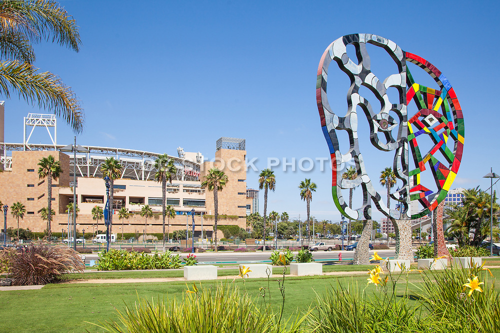 Petco Park and the Coming Together Sculpture in San Diego
