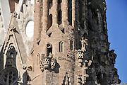 La Sagrada Familia, Roman Catholic basilica under construction in Barcelona, Catalonia, Spain. designed by Antoni Gaudi