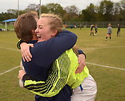 White House celebrates after beating Greeneville 1-0 in the Class AA state soccer championship Saturday at Richard Siegel Soccer Complex in Murfreesboro, Tenn.