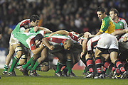 Reading, GREAT BRITAIN, The referee  gives his instructions,  during the third round Heineken Cup game, London Irish vs Ulster Rugby, at the Madejski Stadium, Reading ENGLAND, Sat 09.12.2006. [Photo Peter Spurrier/Intersport Images]