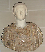 Bust of the Roman Emperor Constantine First. Reigned 337-350 AD (oden copy of a Roman bust).
