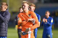 AFC Wimbledon goalkeeper Aaron Ramsdale (35) during the EFL Sky Bet League 1 match between Oxford United and AFC Wimbledon at the Kassam Stadium, Oxford, England on 13 April 2019.
