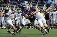 MANHATTAN, KS - OCTOBER 24:  Quarterback Grant Gregory #6 of the Kansas State Wildcats rolls to the outside against the Colorado Buffaloes in the second quarter on October 24, 2009 at Bill Snyder Family Stadium in Manhattan, Kansas.  (Photo by Peter G. Aiken/Getty Images)