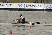 Poznan, POLAND.  2006, FISA, Rowing World Cup, Men's single final, left GBR M1X, Alan  CAMBPELL and NZL  M1X, Mahe DRYSDALE,   'Malta Regatta course;  Poznan POLAND, Sat. 17.06.2006. © Peter Spurrier   ....[Mandatory Credit Peter Spurrier/ Intersport Images] Rowing Course:Malta Rowing Course, Poznan, POLAND