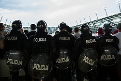 Police during the EURO 2016 Qualifier Group E match between Slovenia and England at SRC Stozice on June 14, 2015 in Ljubljana, Slovenia. Photo by Vid Ponikvar / Sportida