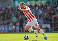 Stoke city's  Charlie Adam in action. Premier league match, Stoke City v Liverpool at the Bet365 Stadium in Stoke on Trent, Staffs on Saturday 8th April 2017.<br /> pic by Bradley Collyer, Andrew Orchard sports photography.