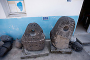 Israel, Sea of Galilee, Fishing Museum, Anchor House, Anchor shaped cult stones