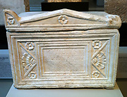 Marble Roman cinerary chest. Roman AD 69-80 AD